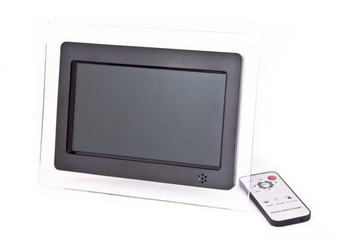 Digital photo frame on an isolated background