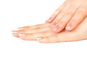 Aluminium Prints Manicure Close up of Female hands with manicure