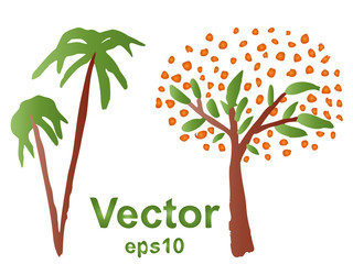 Vector conceptual tree painted by a child