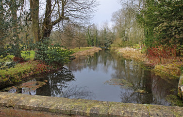 Tranquil River in Rural England