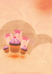 Party cake background with space
