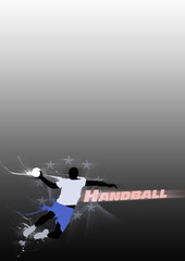 Fototapete - Handball shot background with space