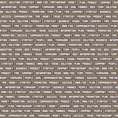 Seamless pattern with business keywords. Vector.