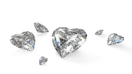 Few heart shaped diamonds