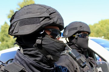 Two policemen, a special unit