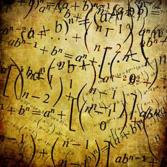 Maths formulas, vintage background