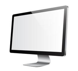 Ecran blanc de trois-quart pour incrustation
