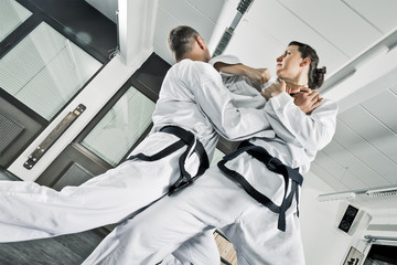 martial arts fighters Wall mural
