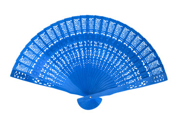 Wooden blue fan