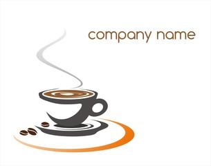 hot coffee , cafeteria , logo design