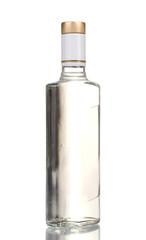 Bottle of vodka isolated on white