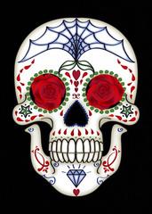 Mexikanischer Sugar-Skull, schwarz