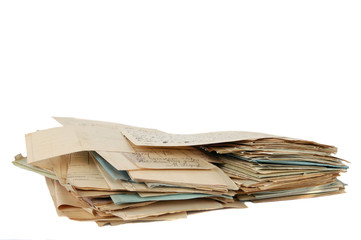 stack of old document isolated