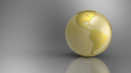 Golden Globe on grey background - Amerika