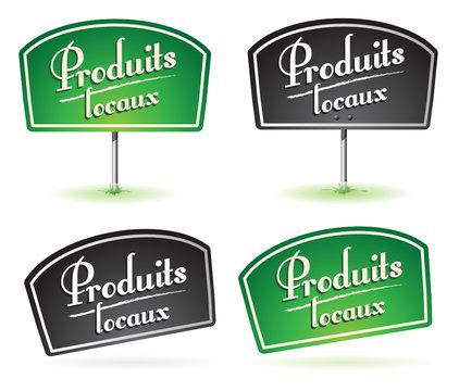 pancarte : produit local, produits locaux