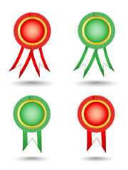 Blank award ribbon rosettes