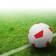 Poland flag on 3d football
