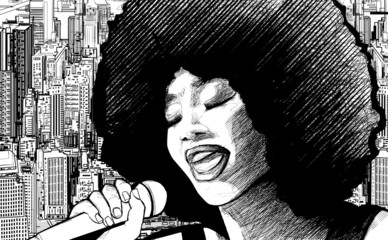 Etiqueta Engomada - jazz singer