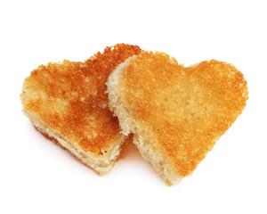 heart bread toast