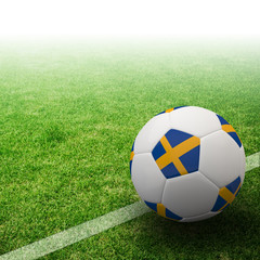 Sweden flag on 3d football