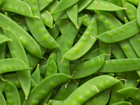 close up of snow peas food background