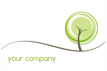 tree, green Eco friendly business logo design