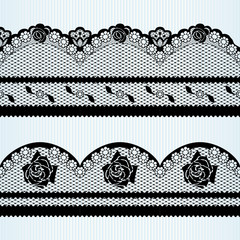Set of black lace ribbons (2 of 2)