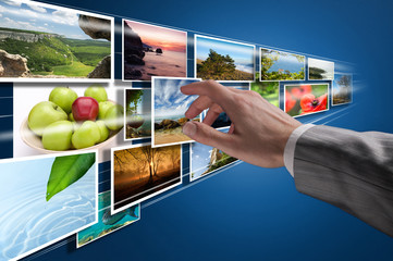 Choosing images on touchscreen