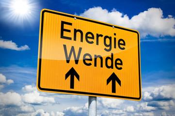 Hinweisschild mit Energiewende