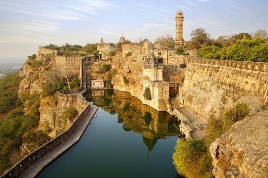 Picturesque panorama of Cittorgarh Fort, India