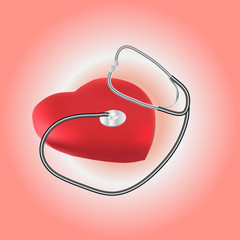illustration of stethoscope and heart