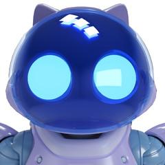 eletric cat portrait