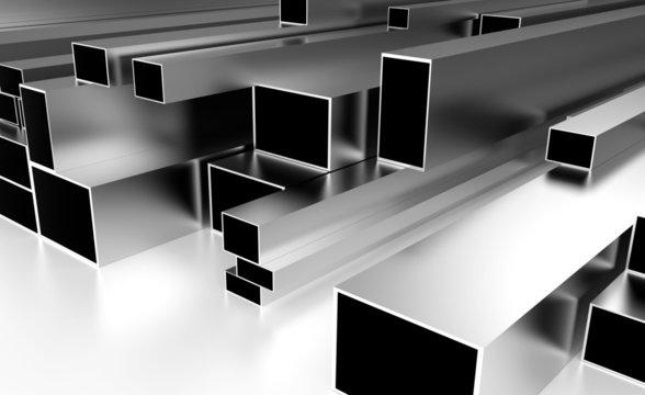 brushed metal bars