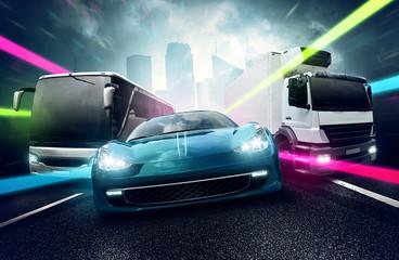 Fototapete - Motor Vehicles