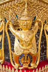 Golden garuda bird decoration