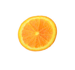 Slice of orange. isolated on white.
