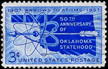 USA - CIRCA 1957 Oklahoma Statehood