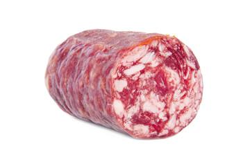 embutido de carne aislado en fondo blanco
