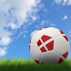 Denmark flag on 3d football