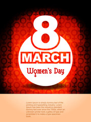 Creative women's day background. vector illustration