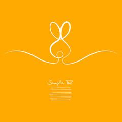 Easter Card Orange Bunny Branded Background