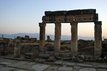 Ruins of ancient city Hierapolis, Turkey