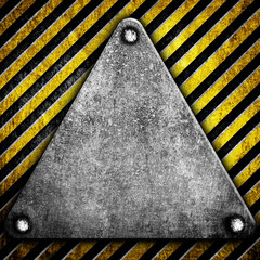 triangle plate with warning stripe