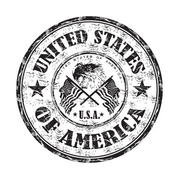 United States of America grunge rubber stamp