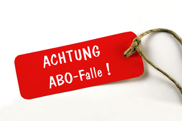 Hinweis auf Abofalle