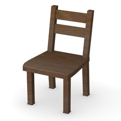 3d render of modern chair