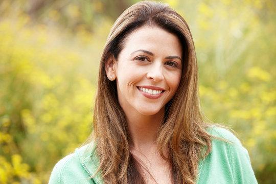 Portrait hispanic woman outdoors