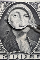 George Washington Under The looking Glass.