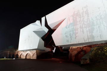 "War monument ""Star"", Brest fortress, Belarus"