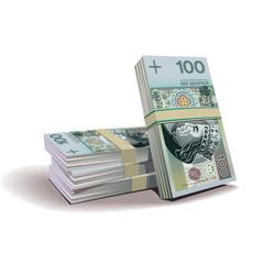 zloty banknotes vector illustration, financial theme